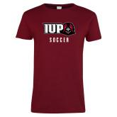 Ladies Cardinal T Shirt-Soccer