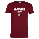 Ladies Cardinal T Shirt-Basketball Sharp Net
