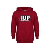 Youth Cardinal Fleece Hoodie-IUP Hawks Banner