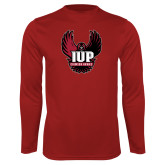 Performance Cardinal Longsleeve Shirt-IUP Hawk Wings