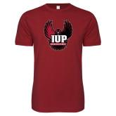 Next Level SoftStyle Cardinal T Shirt-IUP Hawk Wings