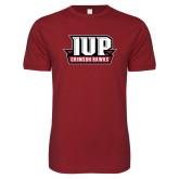 Next Level SoftStyle Cardinal T Shirt-IUP Hawks Banner