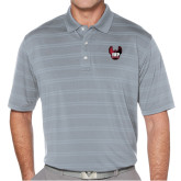 Callaway Horizontal Textured Steel Grey Polo-IUP Hawk Wings
