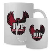 Full Color White Mug 15oz-IUP Hawk Wings
