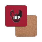 Hardboard Coaster w/Cork Backing-IUP Hawk Wings