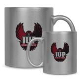 Full Color Silver Metallic Mug 11oz-IUP Hawk Wings