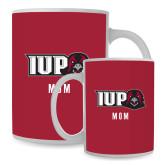 Mom Full Color White Mug 15oz-IUP Hawk Head
