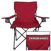 Deluxe Cardinal Captains Chair-IUP Hawks Banner