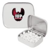 White Rectangular Peppermint Tin-IUP Hawk Wings