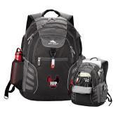 High Sierra Big Wig Black Compu Backpack-IUP Hawk Wings