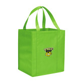 Non Woven Lime Green Grocery Tote-TMCC Athletics
