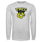 White Long Sleeve T Shirt-TMCC Athletics