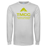 White Long Sleeve T Shirt-TMCC Stacked with Name