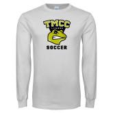 White Long Sleeve T Shirt-Lizards Soccer