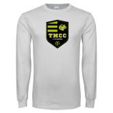 White Long Sleeve T Shirt-Soccer Badge