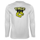 Performance White Longsleeve Shirt-TMCC Athletics