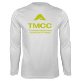 Performance White Longsleeve Shirt-TMCC Stacked with Name