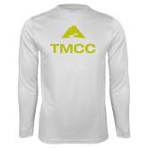 Performance White Longsleeve Shirt-TMCC Stacked