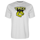 Performance White Tee-TMCC Athletics