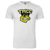 Next Level Heather White Tri Blend Crew-TMCC Athletics
