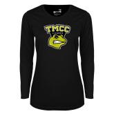 Ladies Syntrel Performance Black Longsleeve Shirt-TMCC Athletics
