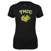Ladies Syntrel Performance Black Tee-TMCC Athletics