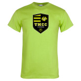 Lime Green T Shirt-Soccer Badge