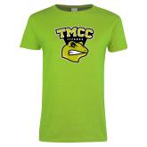Ladies Lime Green T Shirt-TMCC Athletics