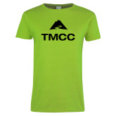 Ladies Lime Green T Shirt-TMCC Stacked