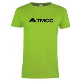 Ladies Lime Green T Shirt-TMCC Horizontal