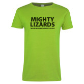 Ladies Lime Green T Shirt-Mighty Lizards