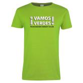 Ladies Lime Green T Shirt-Vamos Verdes