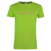 Ladies Lime Green T Shirt-Truckee Meadows Community College