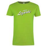 Ladies Lime Green T Shirt-TMCC Lizards