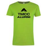 Ladies Lime Green T Shirt-Alumni