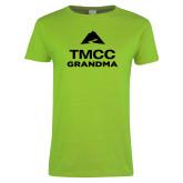 Ladies Lime Green T Shirt-Grandma