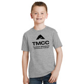 Youth Grey T Shirt-TMCC Stacked with Name