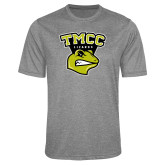 Performance Grey Heather Contender Tee-TMCC Athletics