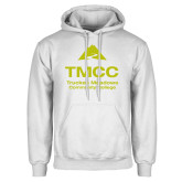 White Fleece Hoodie-TMCC Stacked with Name