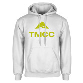 White Fleece Hoodie-TMCC Stacked