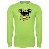 Lime Green Long Sleeve T Shirt-TMCC Athletics