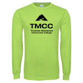 Lime Green Long Sleeve T Shirt-TMCC Stacked with Name