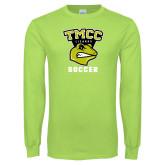 Lime Green Long Sleeve T Shirt-Lizards Soccer