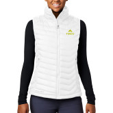 Columbia Lake 22 Ladies White Vest-TMCC Stacked