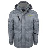 Grey Brushstroke Print Insulated Jacket-TMCC Horizontal