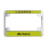 Metal Motorcycle License Plate Frame in Chrome-TMCC Horizontal