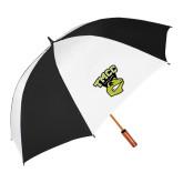 62 Inch Black/White Vented Umbrella-TMCC Athletics