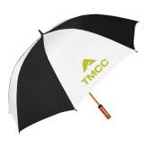 62 Inch Black/White Vented Umbrella-TMCC Stacked