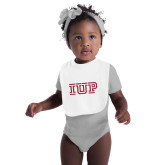 White Baby Bib-IUP Logo
