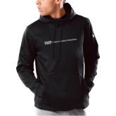 Under Armour Black Armour Fleece Hoodie-IUP Logo Wordmark
